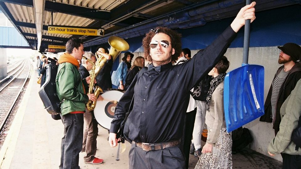 We met the Slavic Soul Party brass band in the subway
